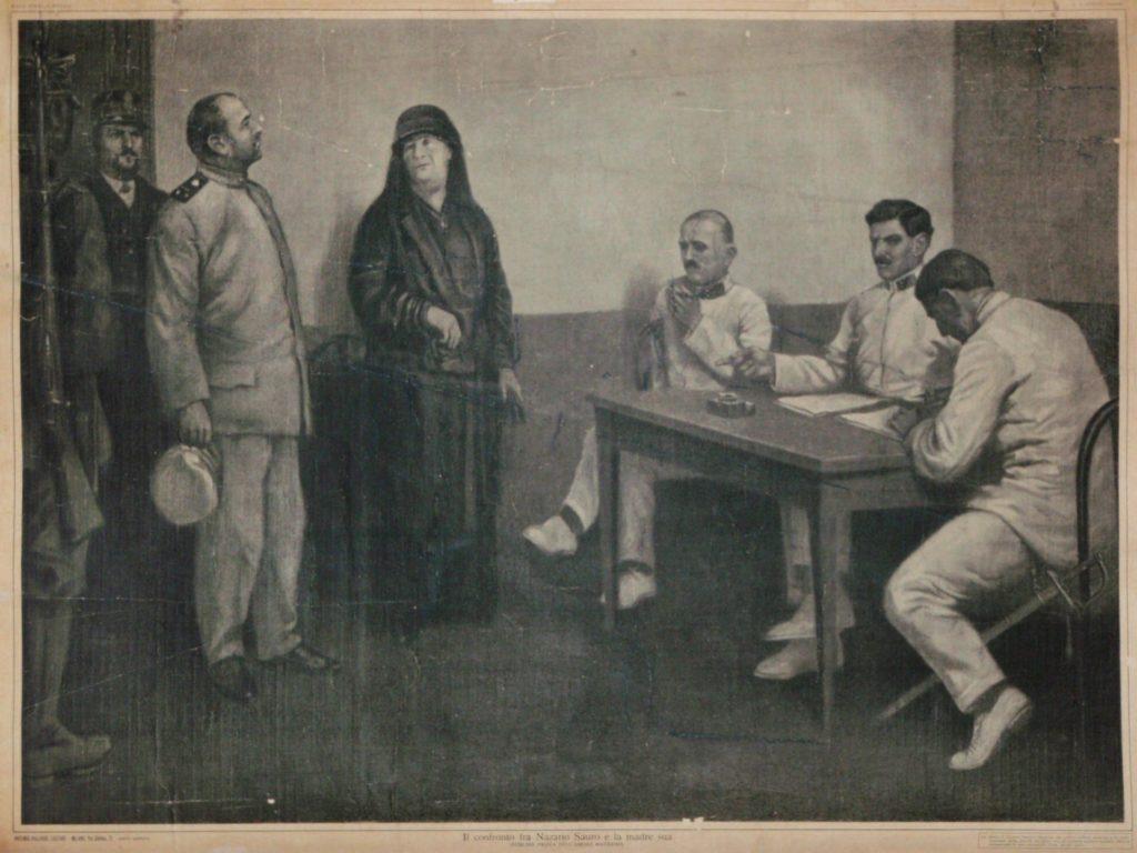 Confronto fra Nazario Sauro e sua madre durante il processo